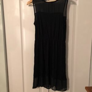 Black Dress with Sheer Accents